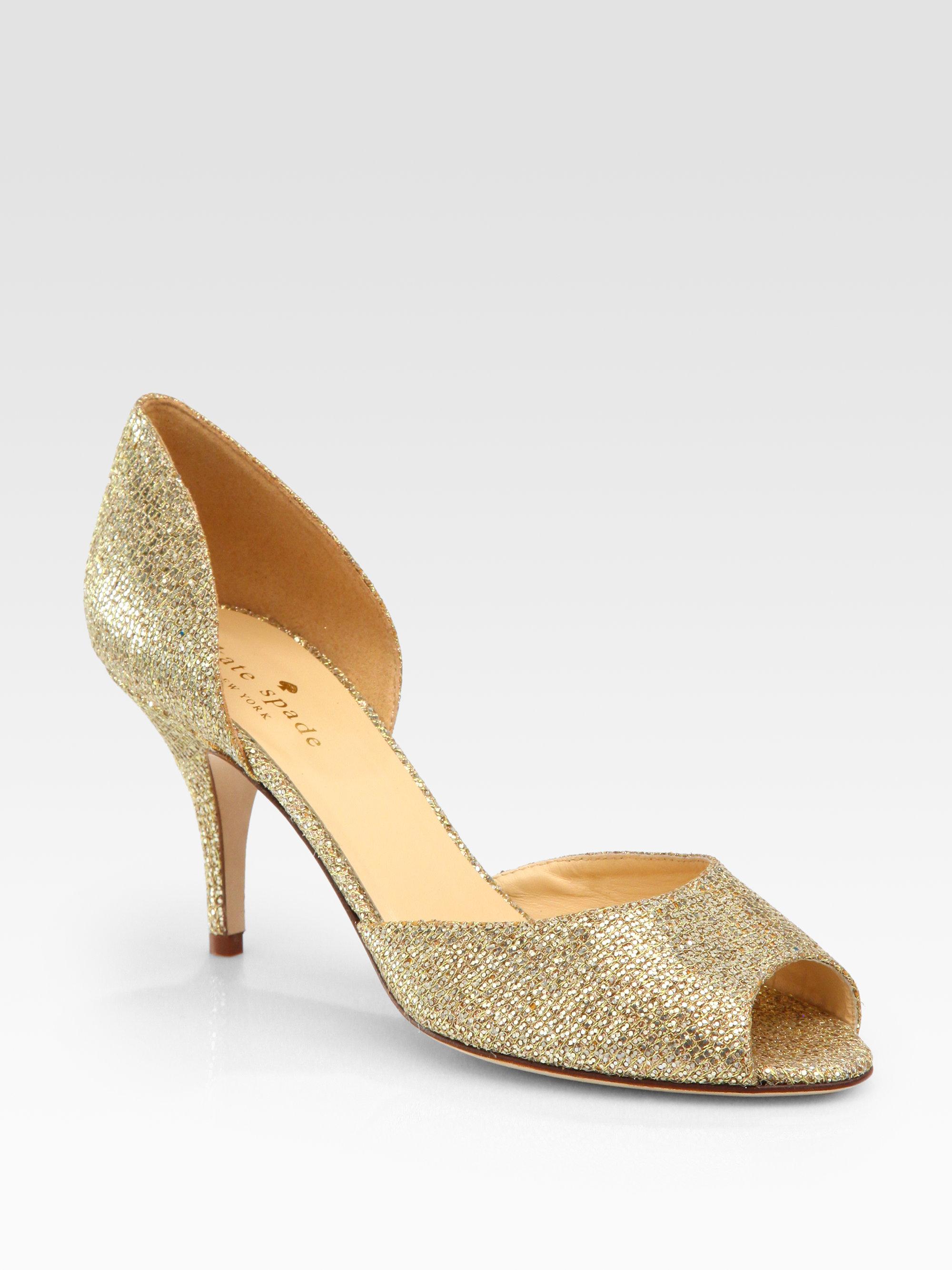 Lyst Kate Spade Sage Glitter D Orsay Pumps In Metallic