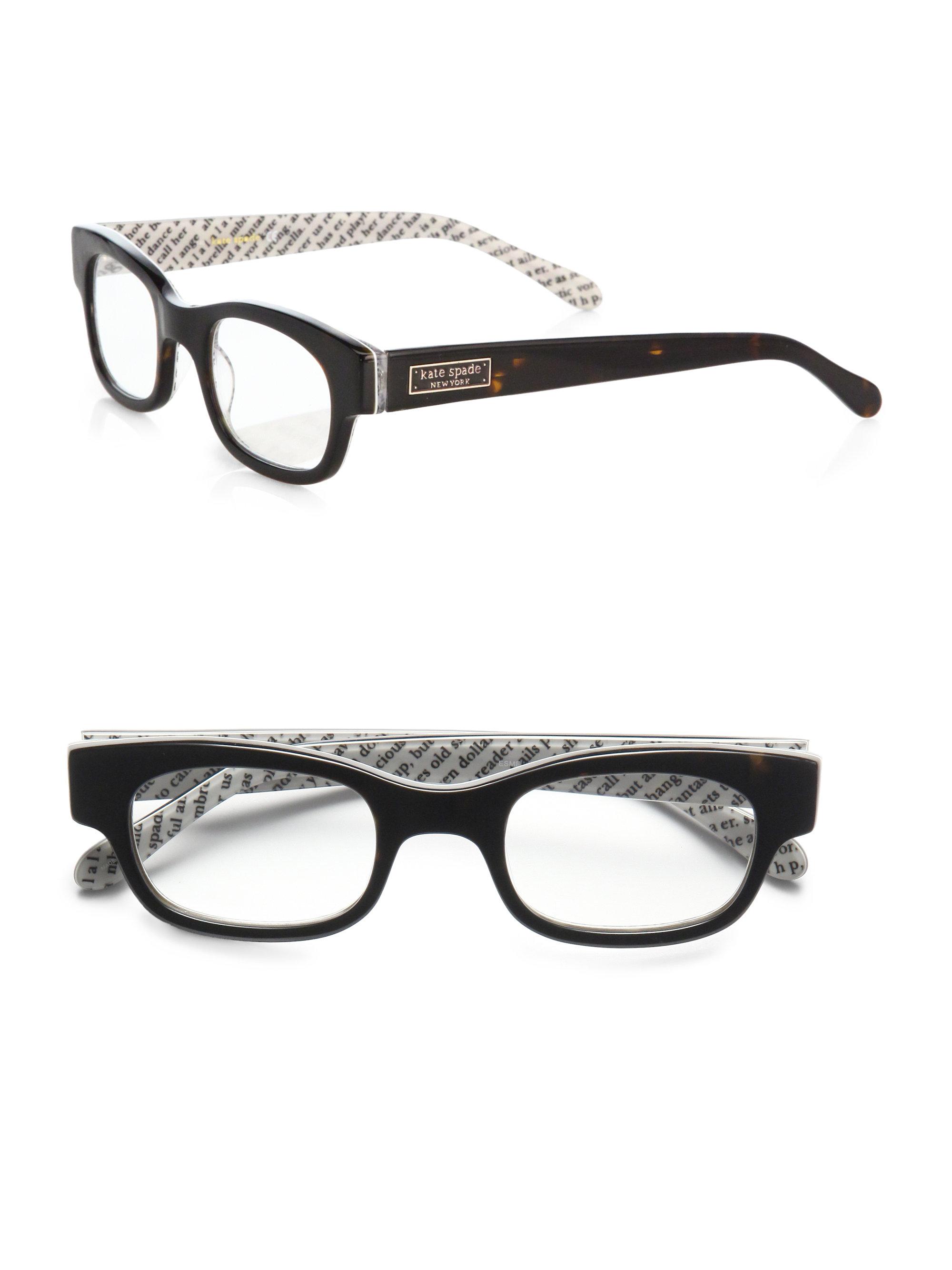 Kate Spade Glasses Frames 2013 : Kate spade Esme Acetate Rectangular Reading Glasses in ...
