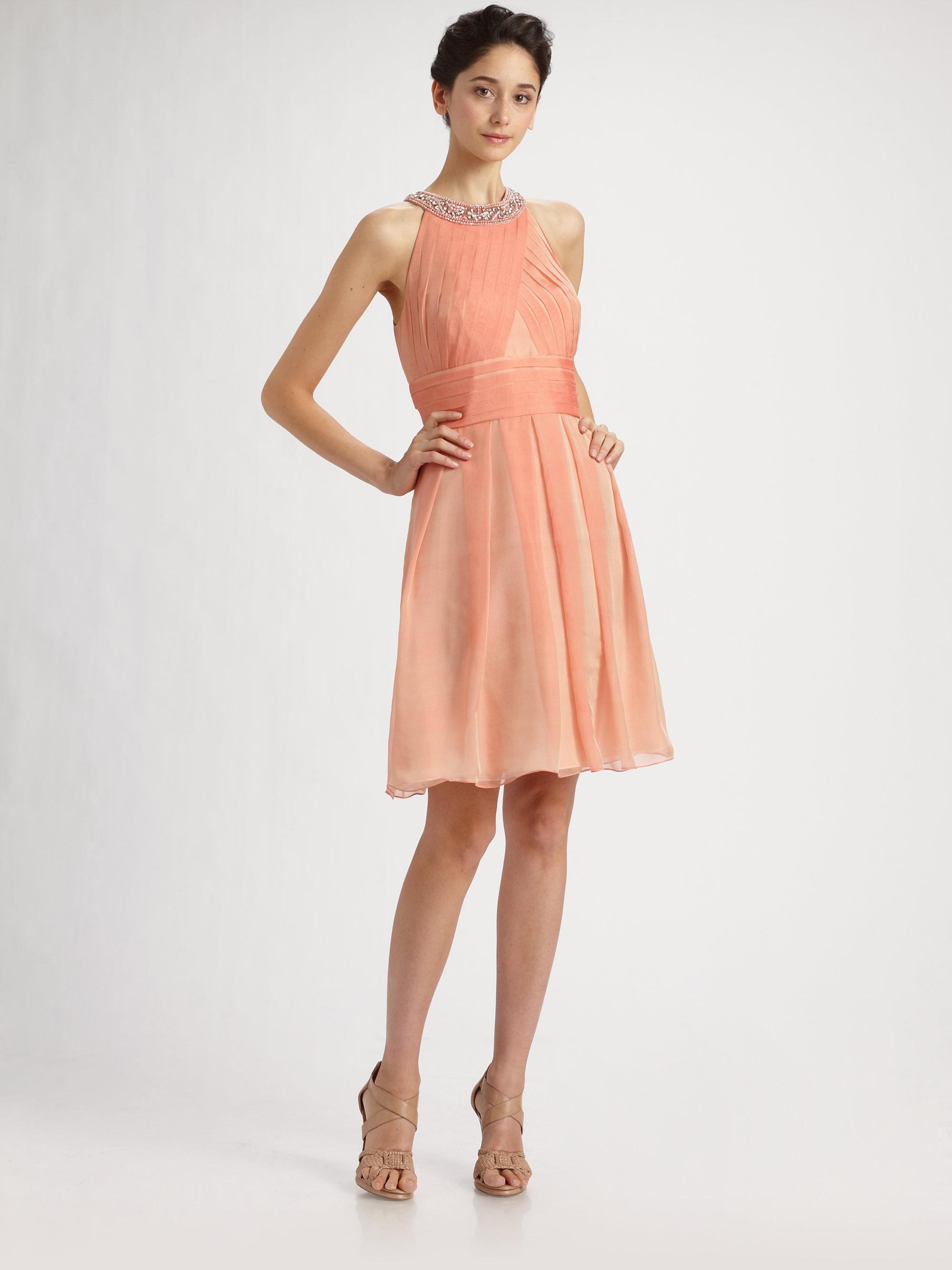 Peach Cocktail Dress - Dress Xy