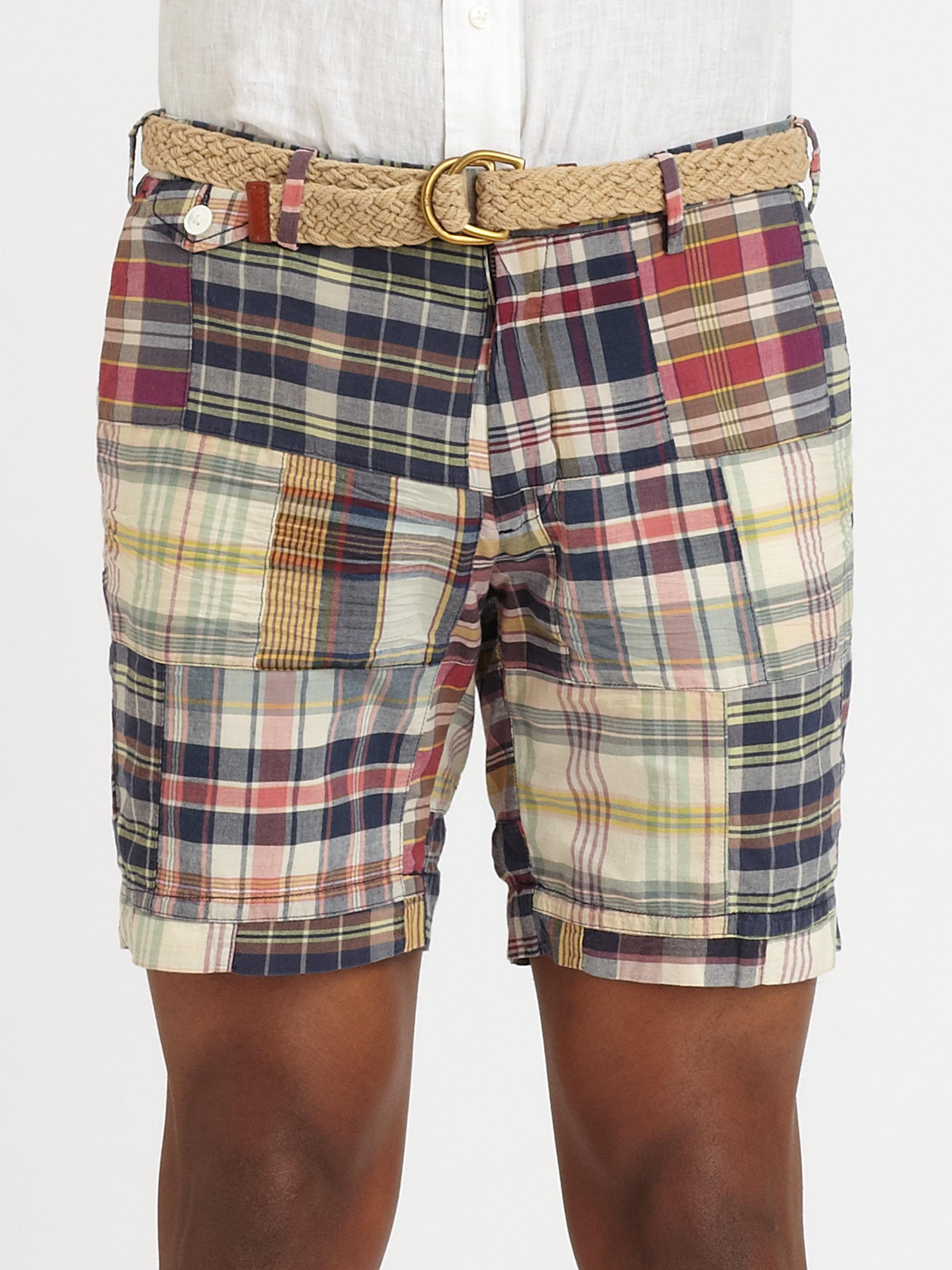 Polo ralph lauren Madras Shorts for Men | Lyst