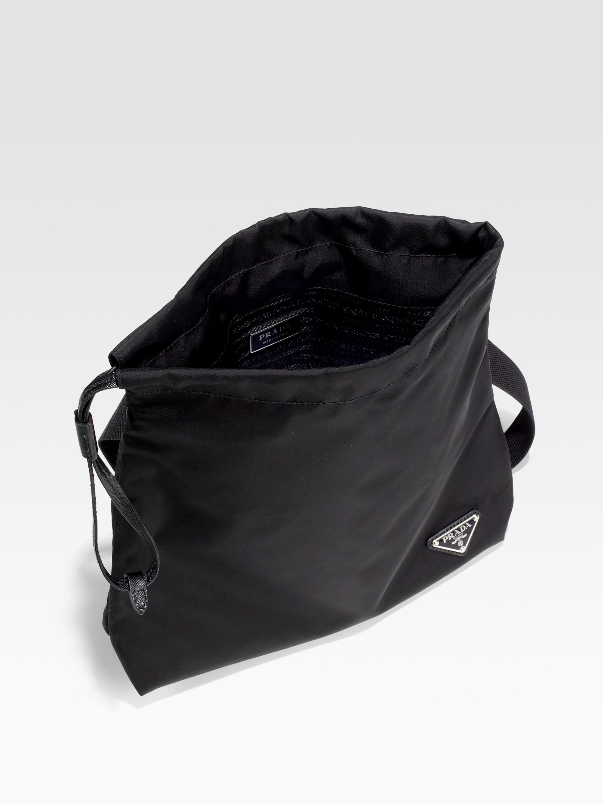 e7ed618e61 reduced prada tessuto small bow crossbody bag black nero 75d37 faeab   aliexpress lyst prada tessuto saffiano crossbody bag in black for men d7896  401a8