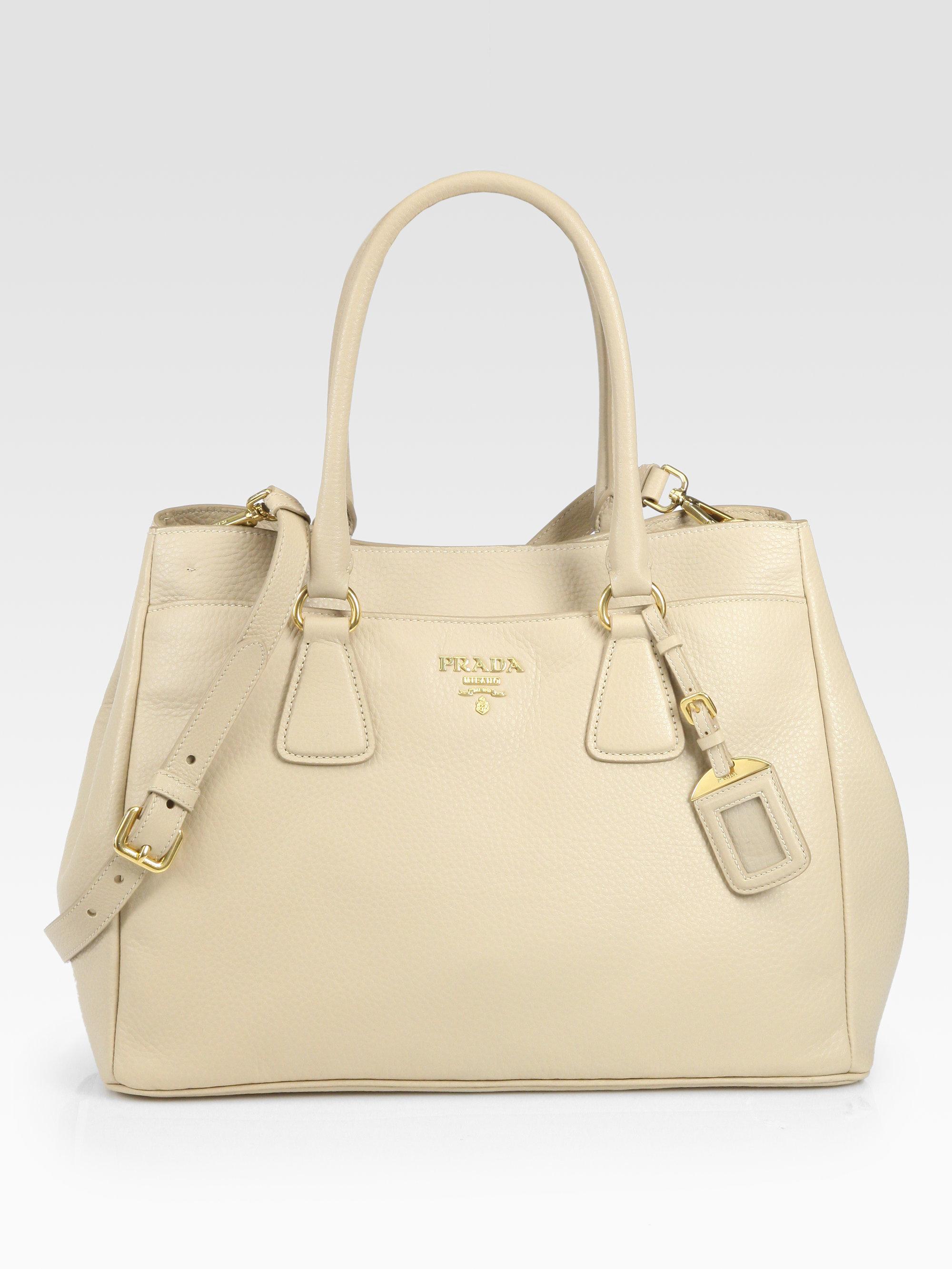 www prada handbag com - Prada Daino East West Tote in Beige (sabbia-sand) | Lyst