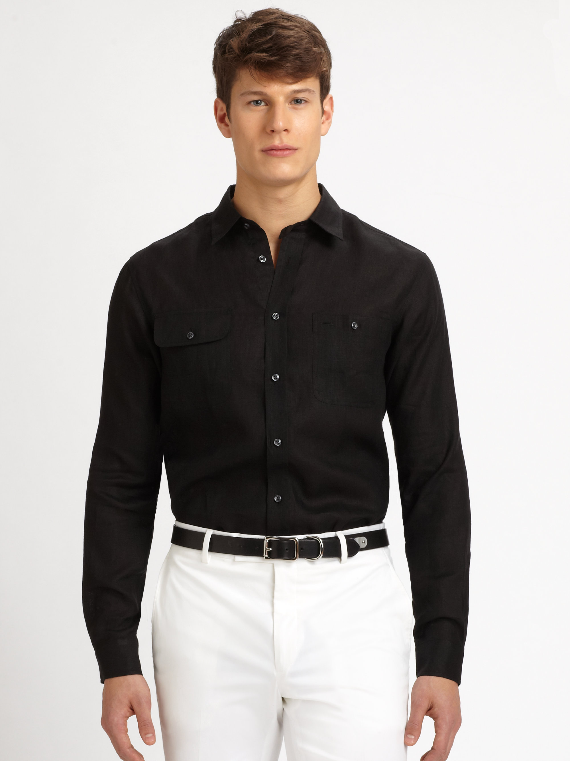 Ralph lauren black label Linen Military Sport Shirt in ...