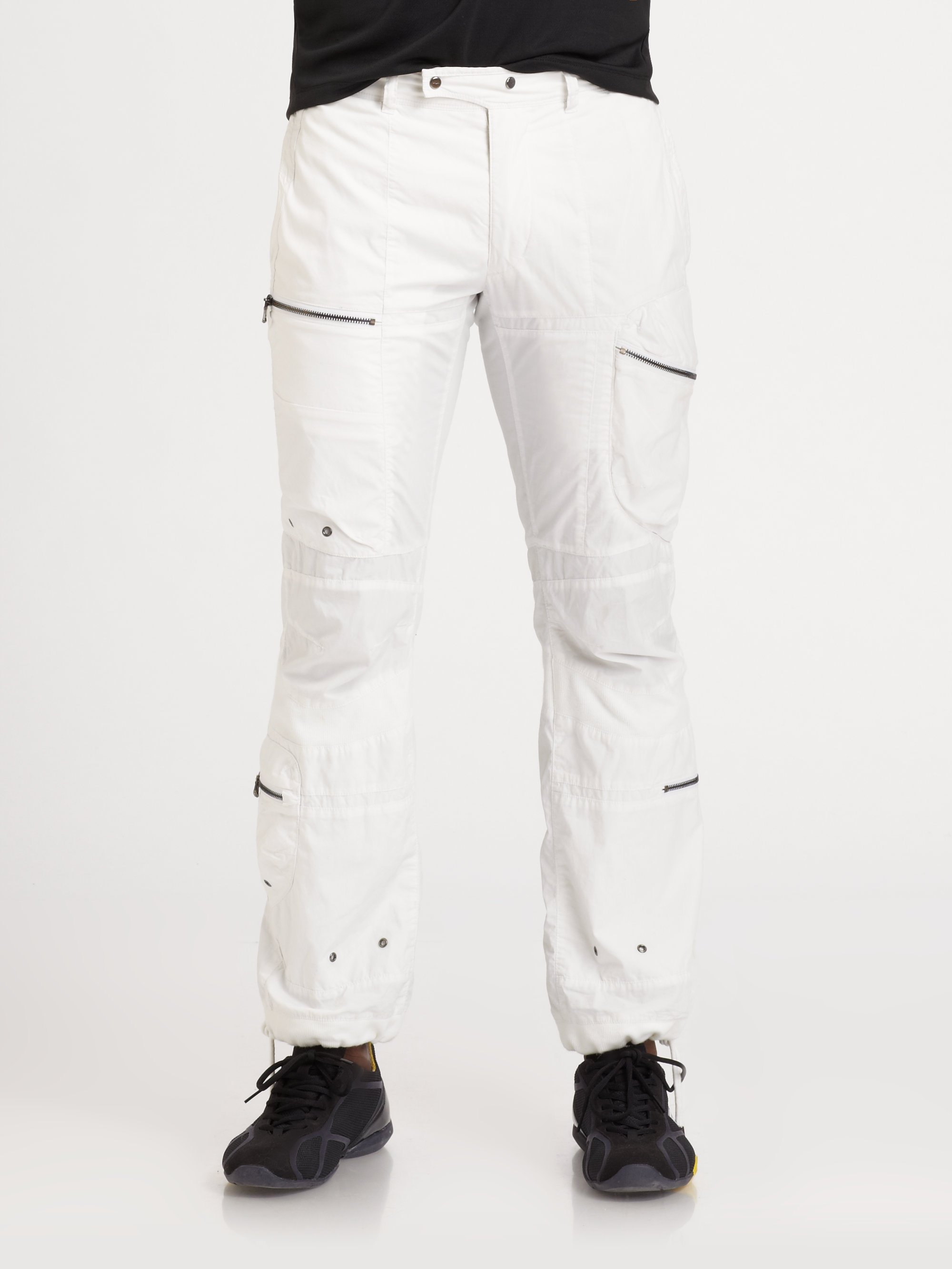 Rlx ralph lauren Space Cargo Pants in White for Men | Lyst