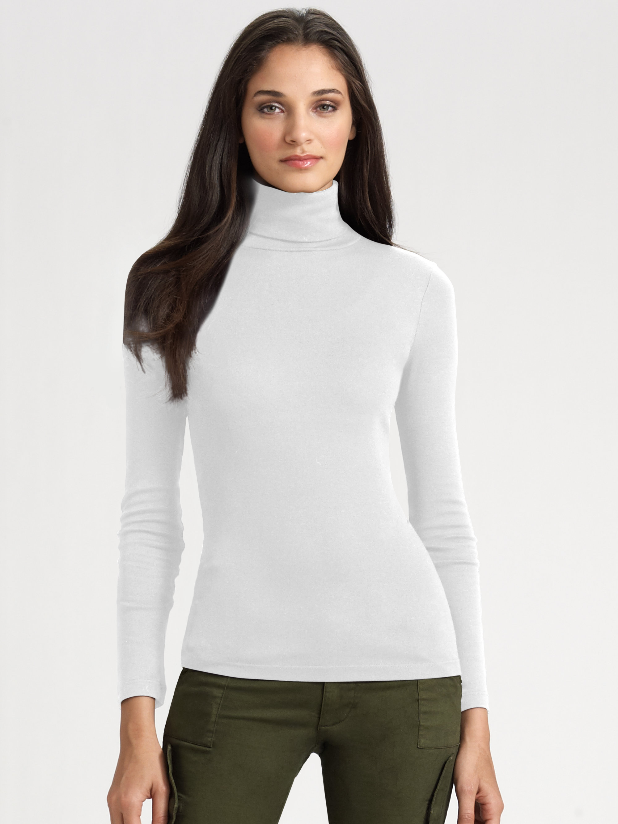 White Cowl Neck Sweater Dress