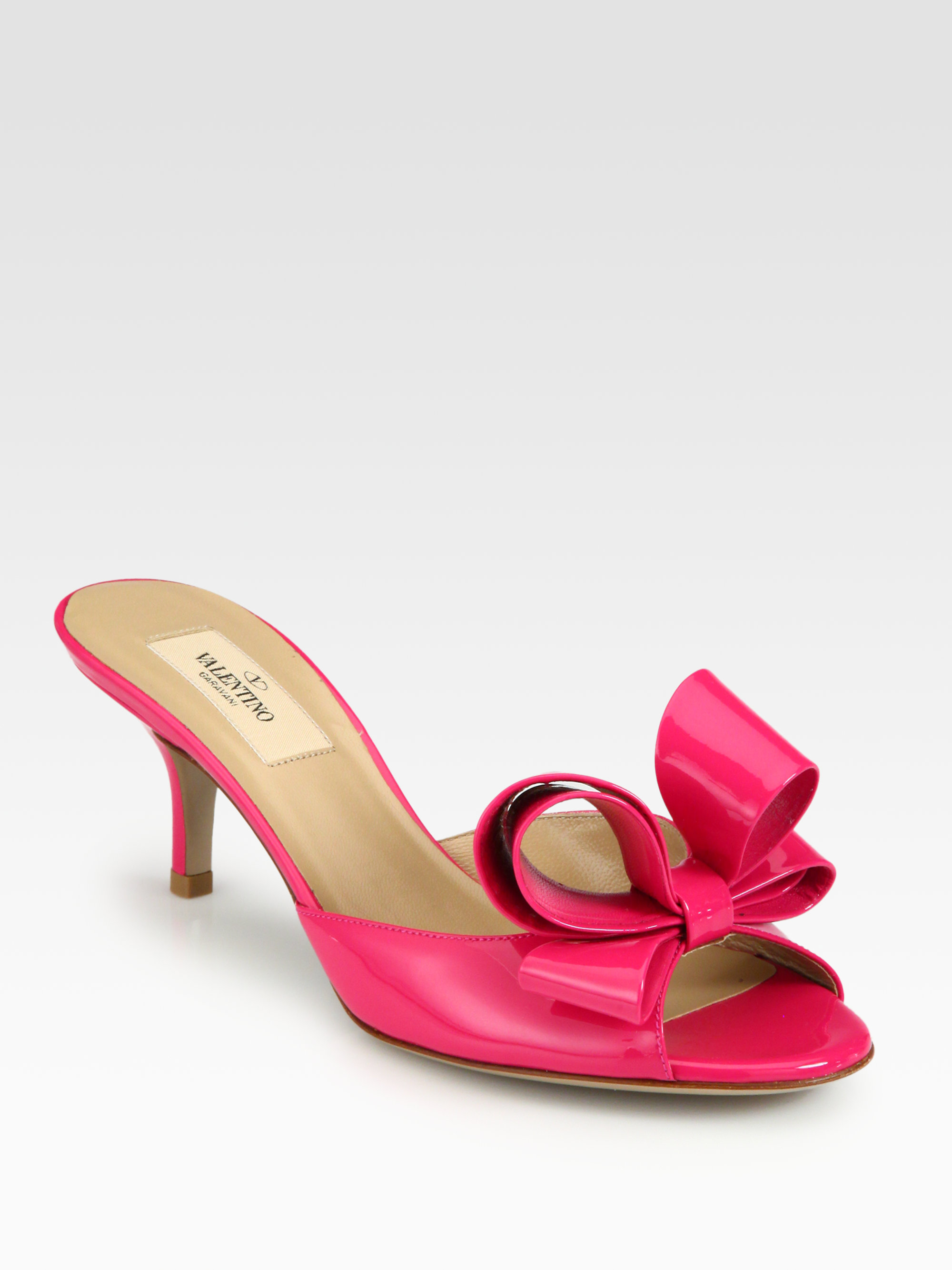 Valentino Patent Leather Slide Sandals discount get authentic very cheap for sale cheap wholesale 3hUS8dFLR