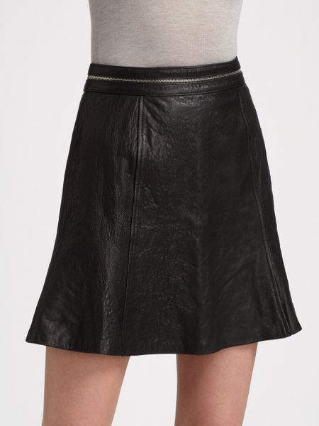 vena cava leather tulip skirt in black lyst