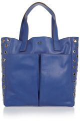 Anya Hindmarch Raw Nevis Small Eyeletembellished Leather Tote - Lyst