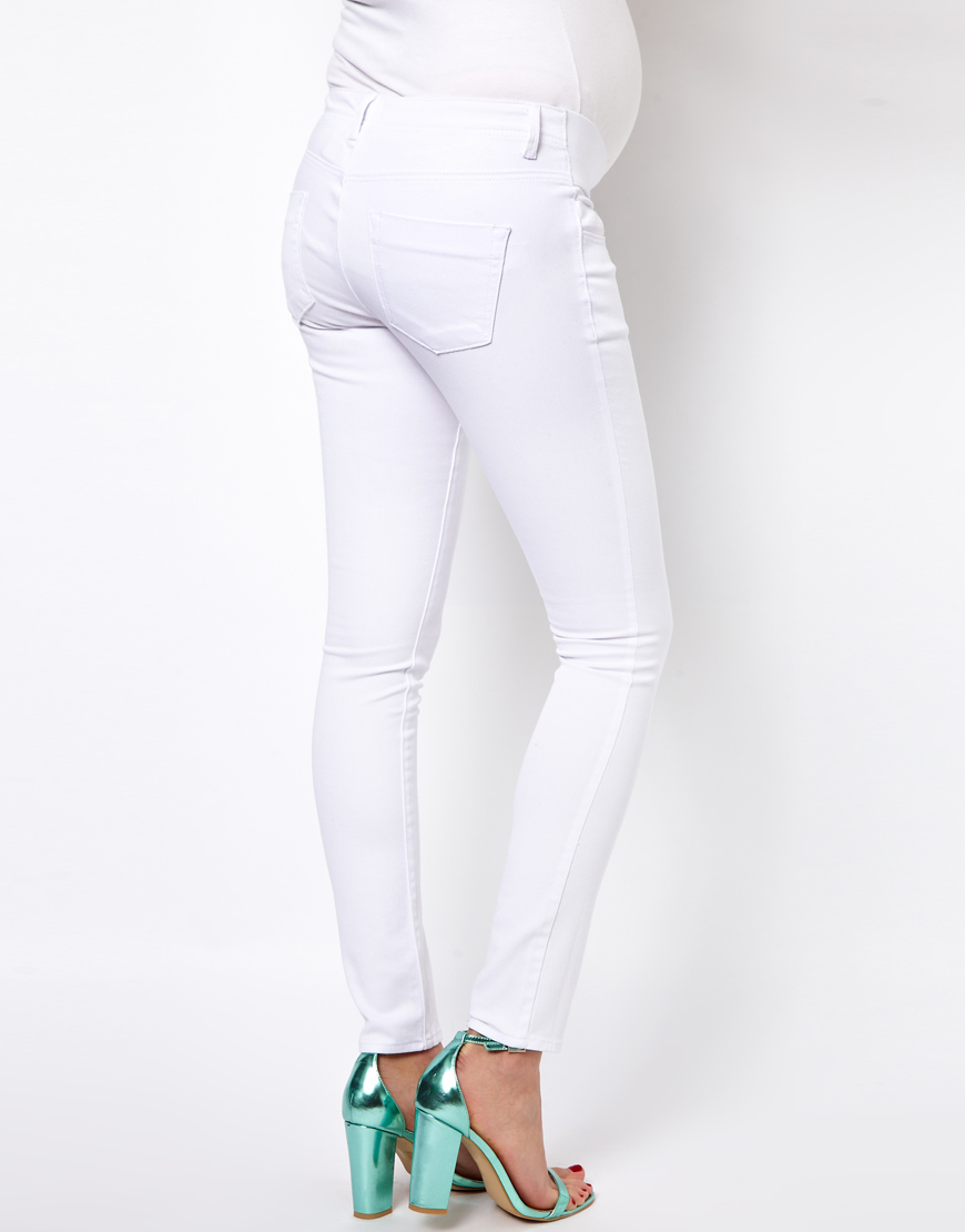 Maternity White Skinny Jeans