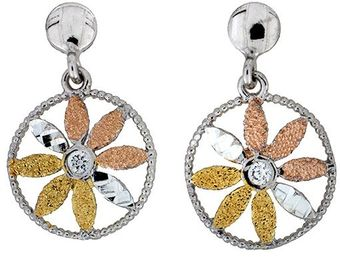 Azendi Vermeil Flower Earrings - Lyst