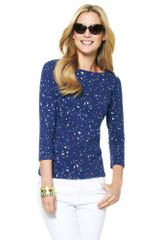 C. Wonder Cotton Paint Splatter Boatneck Top - Lyst