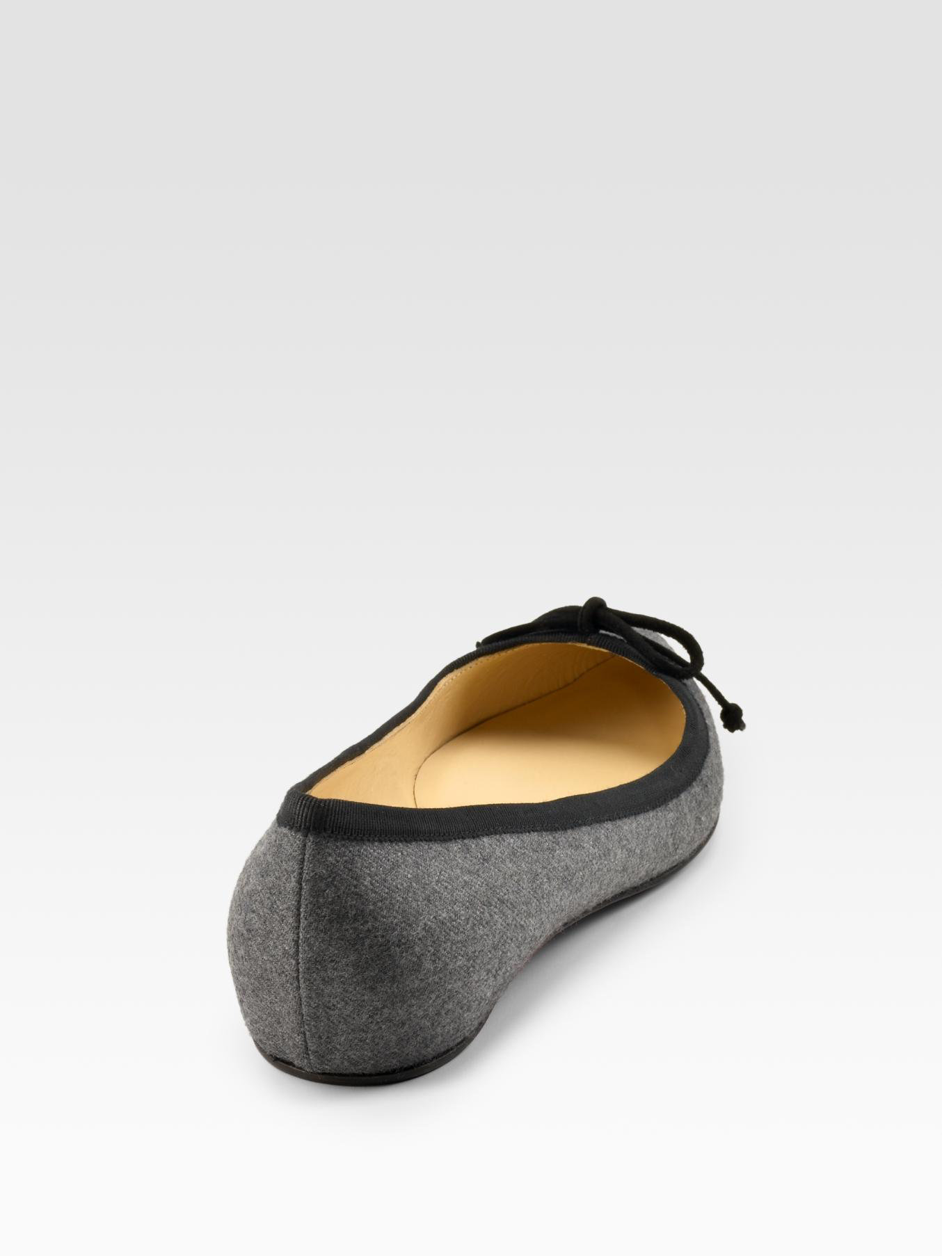 clearance shopping online outlet footlocker pictures Christian Louboutin Wool Ballet Flats wholesale price cheap price outlet looking for GJbRJai747