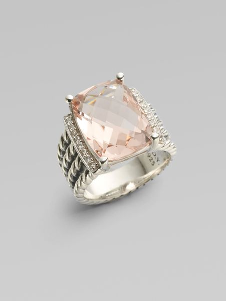 david yurman morganite sterling silver ring in
