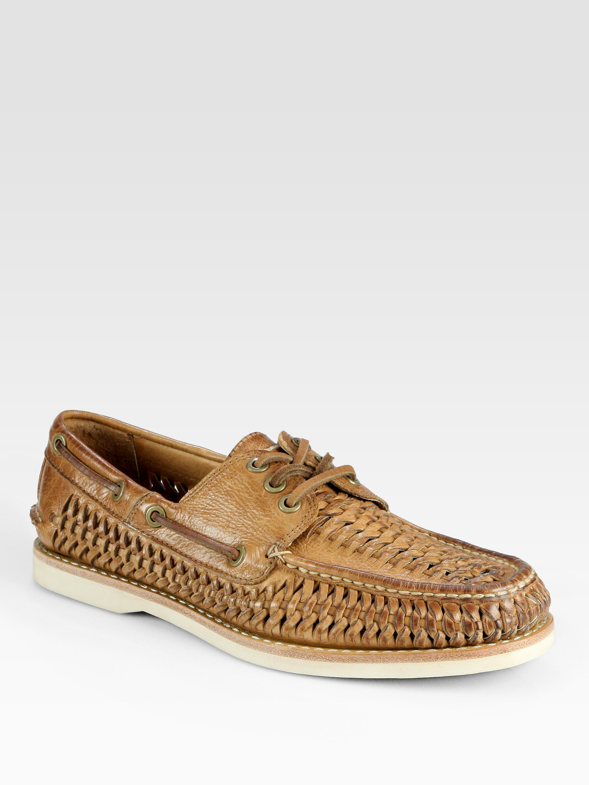 Woven Suede Shoes