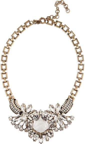 J.Crew Station Agent Goldplated Crystal Necklace - Lyst