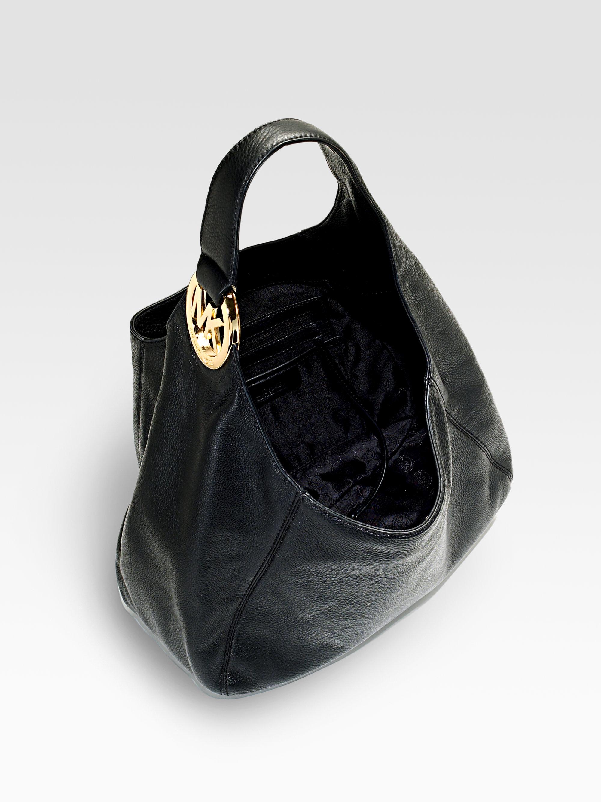 8fc1fa29ac2b ... germany lyst michael michael kors fulton large shoulder bag in black  8d563 e2581