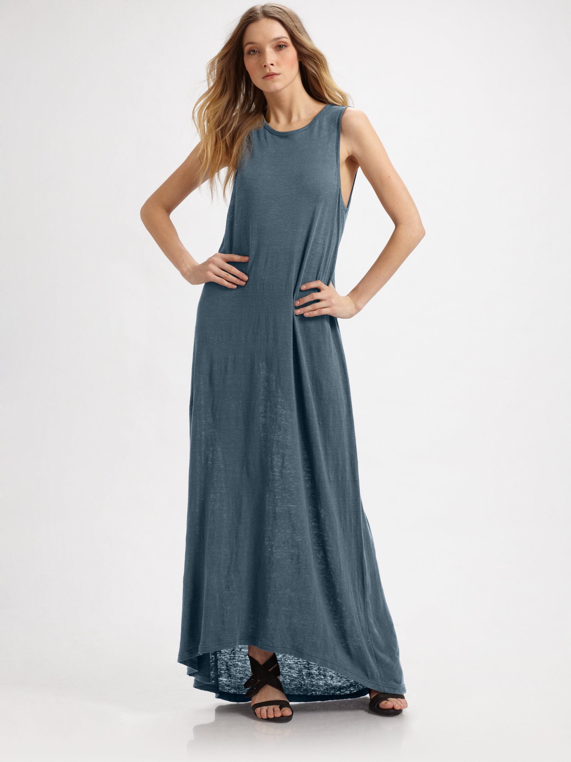 Pjk patterson j. kincaid Barcelona Linen Maxi Dress in Blue | Lyst