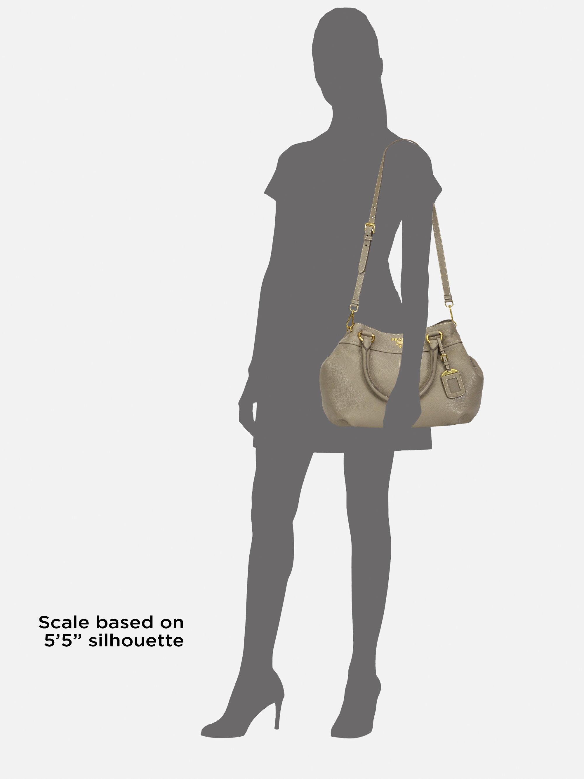 e1ed0eddc3289b Prada Vitello Daino Top Handle Bag in Natural - Lyst