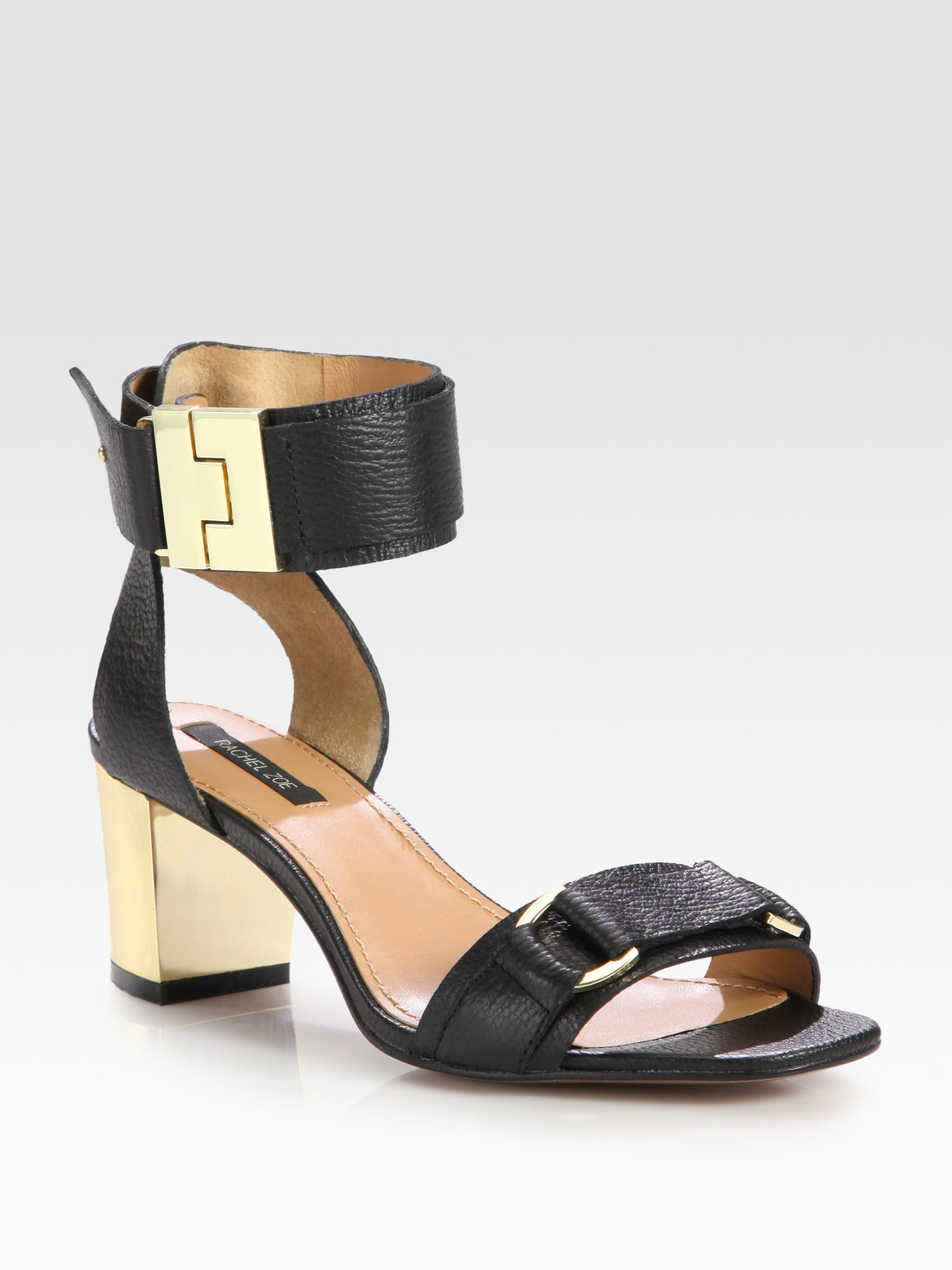 store for sale free shipping many kinds of Rachel Zoe Leather Ankle Strap Sandals outlet real trbMt