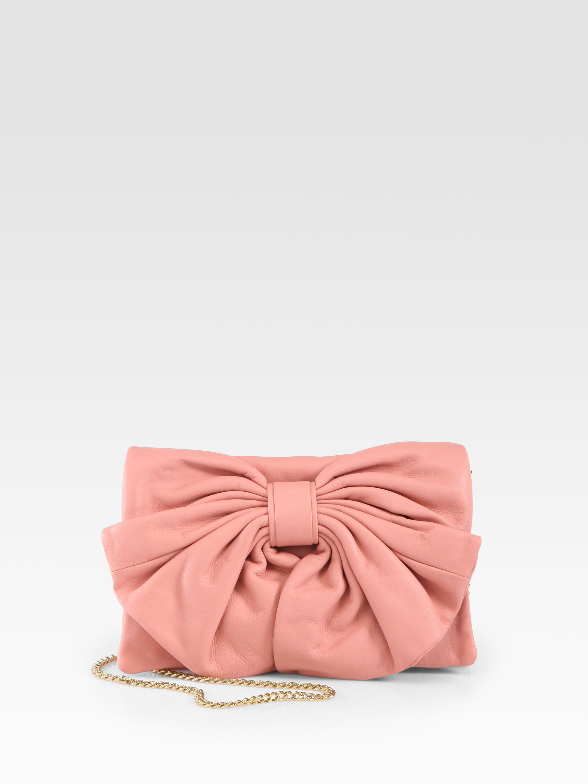 Red Valentino Leather Bow Shoulder Bag 53