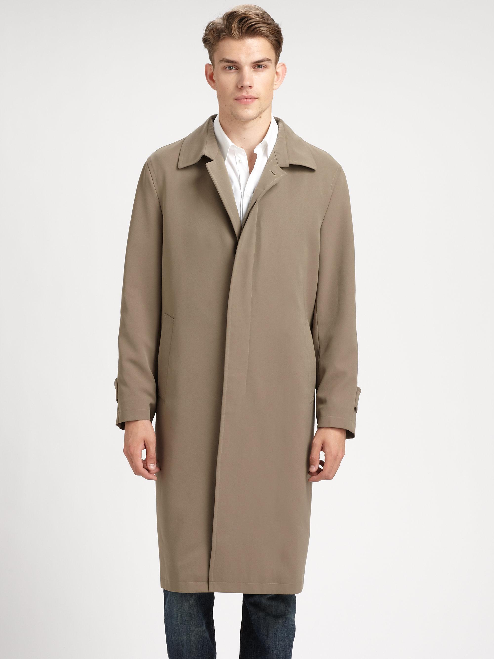 Sanyo Shasta Raglan Coat In Gray For Men Lyst