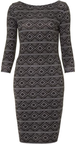 Therapy Aztec Print Midi Dress - Lyst