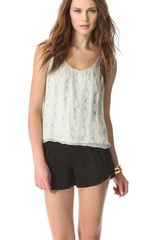 Alice + Olivia Beaded Tank Top - Lyst