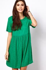 ASOS Collection Smock Dress in Jacquard Tree Texture - Lyst