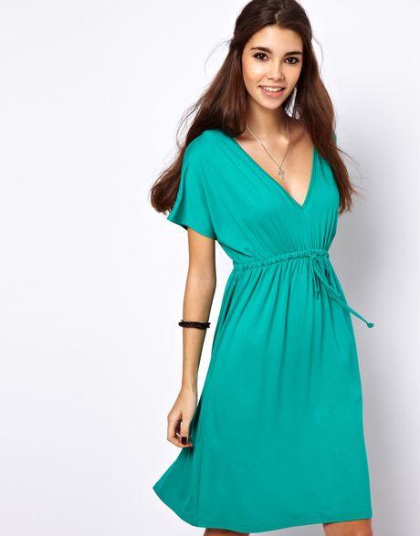 Asos Collection Asos Grecian Summer Dress in Green