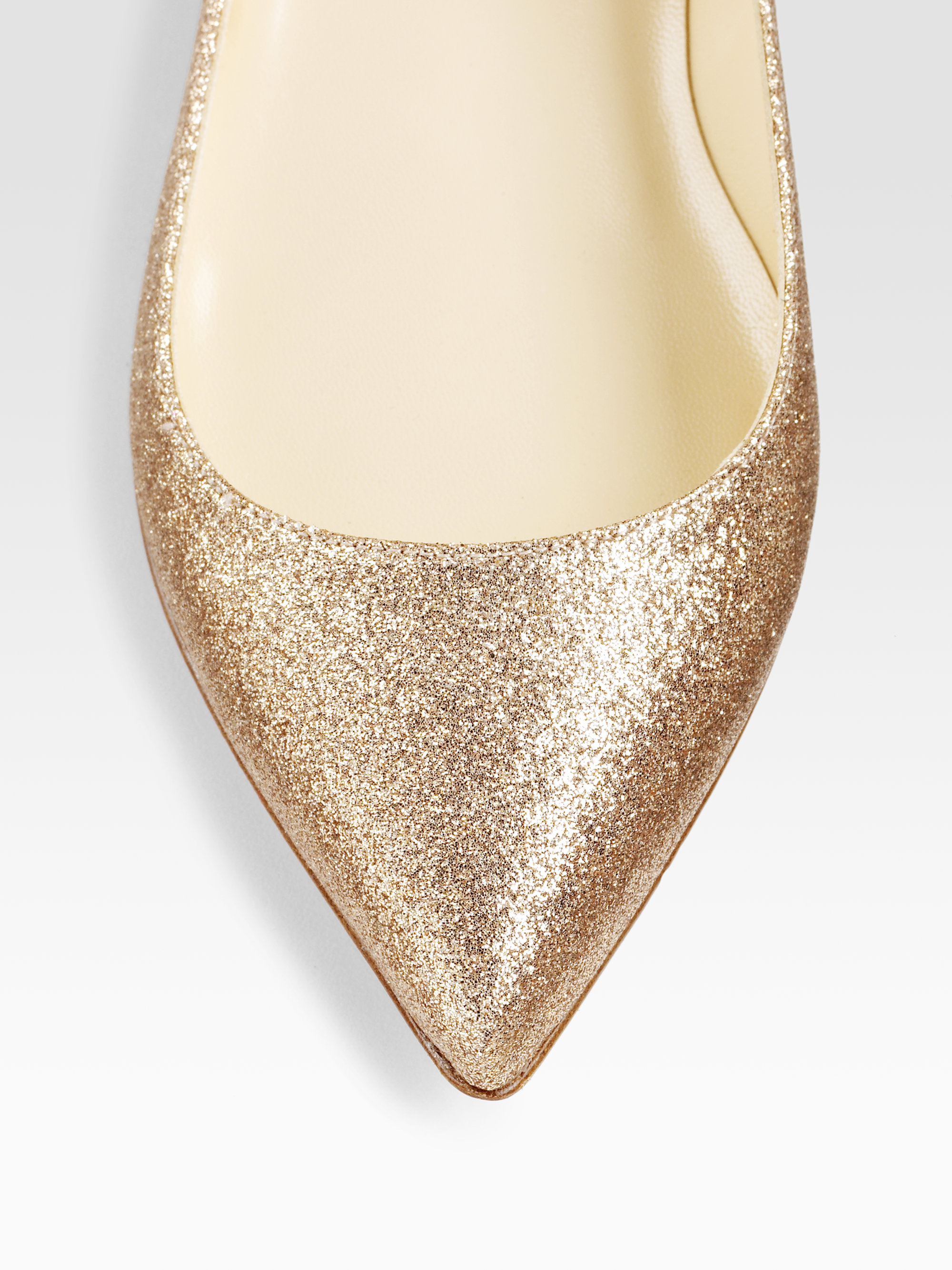 replica louboutin shoes - Christian louboutin Pigalle Glittercovered Leather Ballet Flats in ...