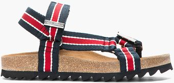 DSquared2 Navy Red Striped Multistrap Sandals - Lyst
