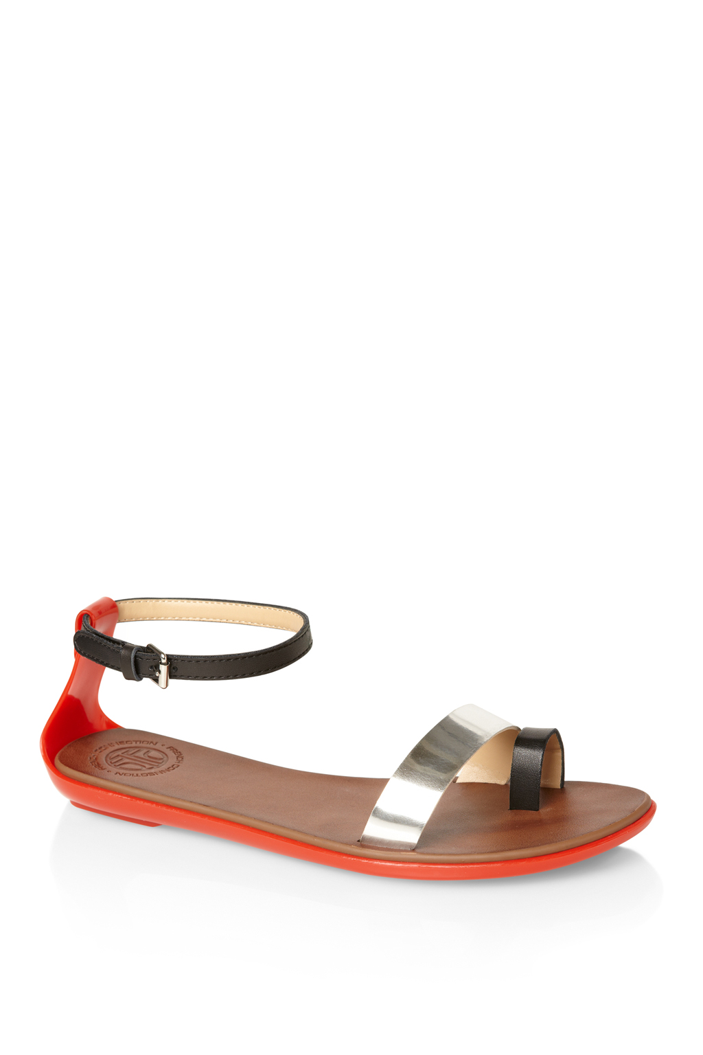 974b6ed5132f Lyst - French Connection Terri Flat Sandals in Black