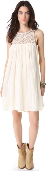 Love Sam Beaded Gauze Dress - Lyst