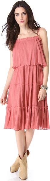 Love Sam Tiered Gauze Dress - Lyst