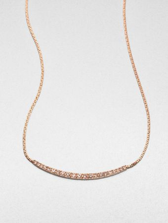 Michael Kors Pavé Bar Necklace - Lyst