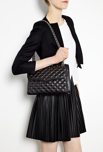 Rebecca Minkoff Black Quilted Stud Affair Shoulder Bag In