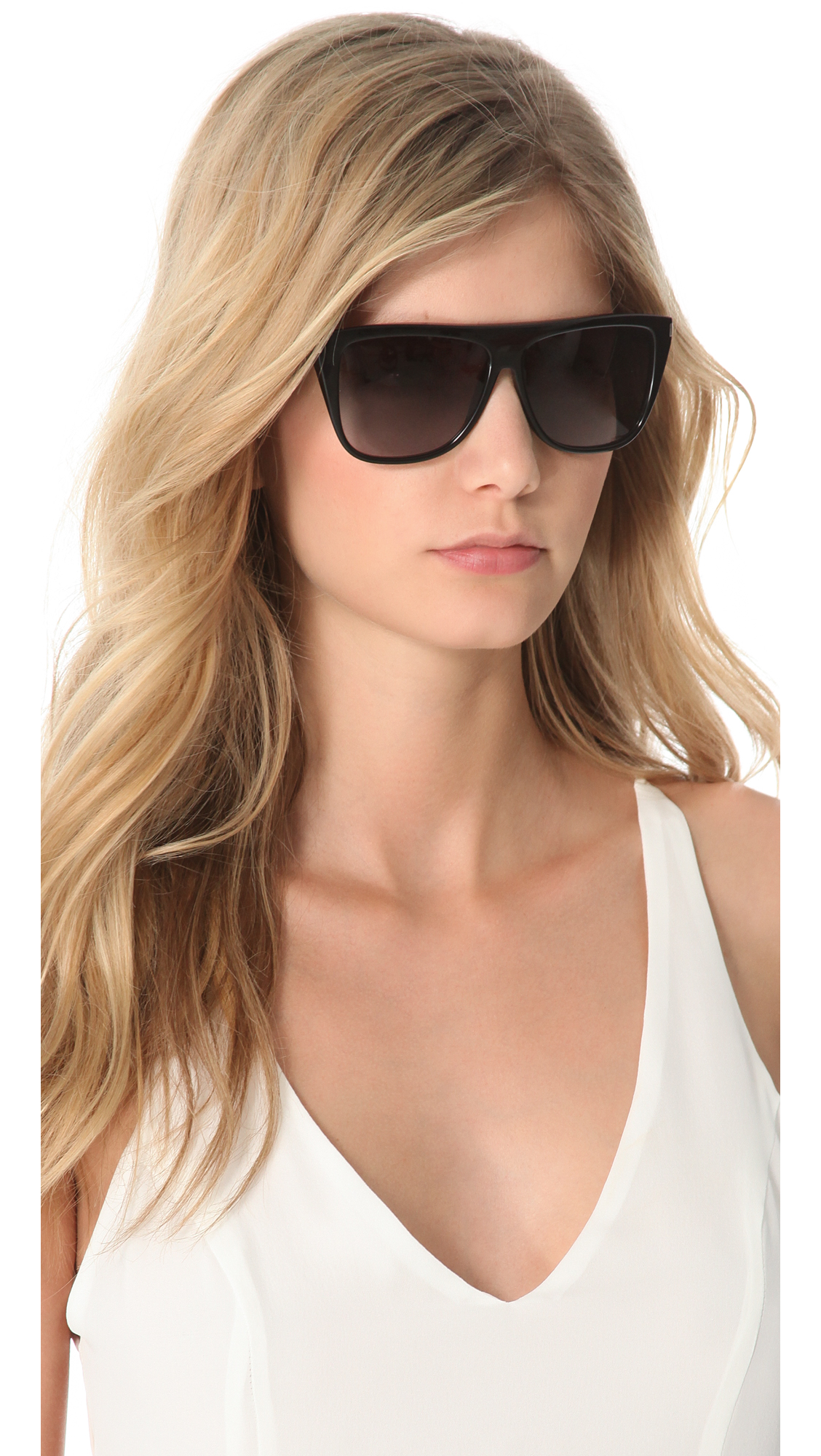 Flat Top Sunglasses Womens  saint lau flat top sunglasses black grey grant in black