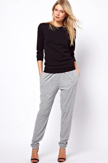 ASOS Collection Asos Peg Trouser in Grey Marl - Lyst