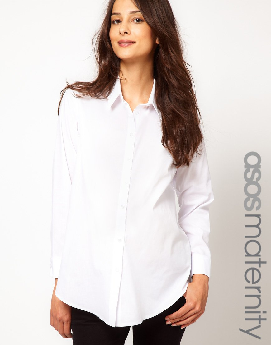 086922a548b035 Lyst - ASOS Asos Maternity Classic Shirt in White