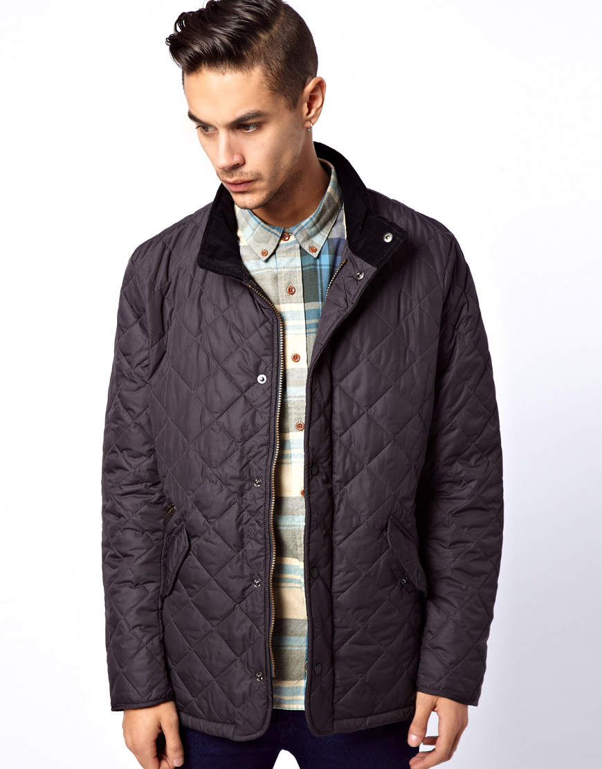 Barbour Barbour Chelsea Sports Quilt Jacket In Gray For