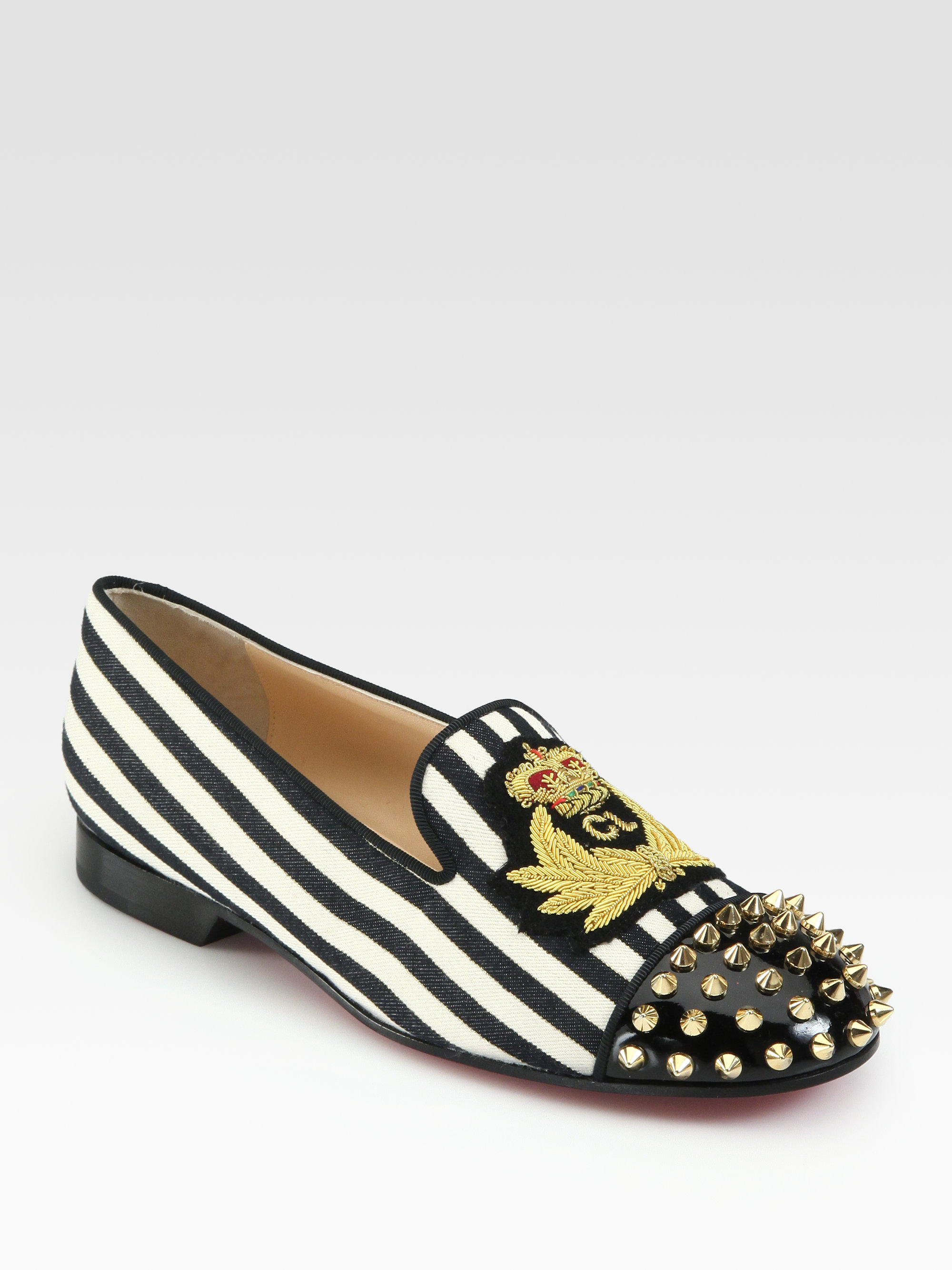 louboutins price - christian louboutin studded round-toe loafers, louboutin copy