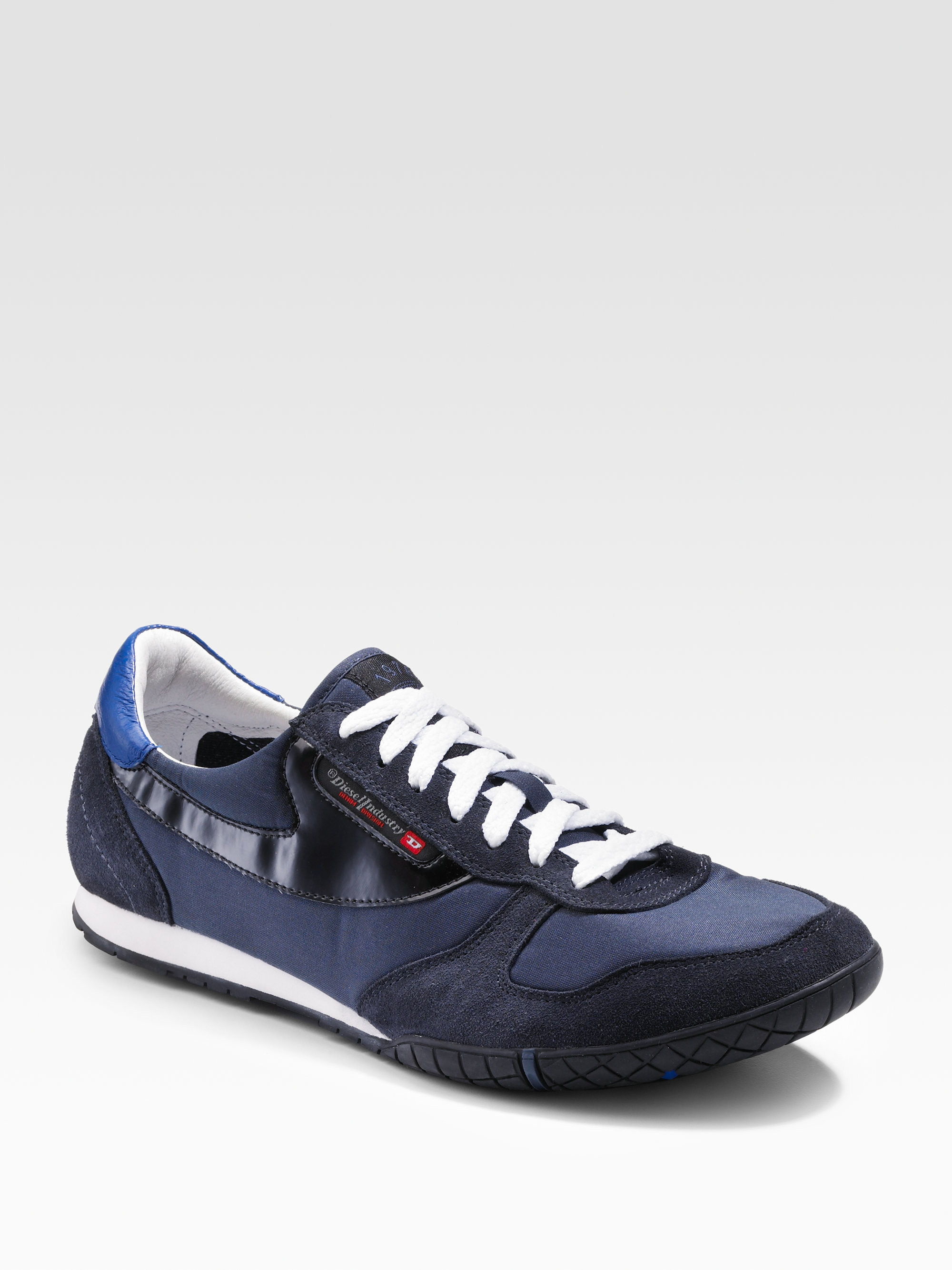 Lyst - Diesel Claw Action Spin Sneakers in Blue for Men