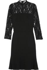 DKNY Lace and Crepe Dress - Lyst