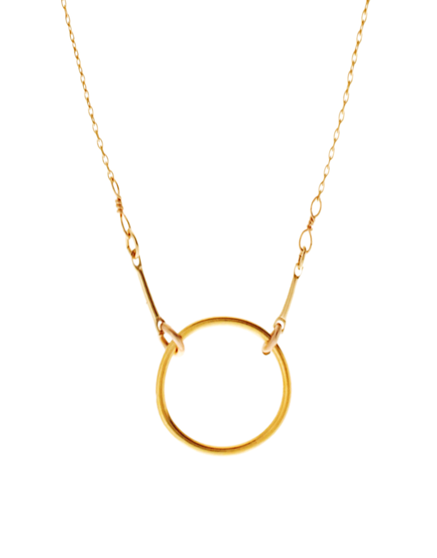 Dogeared Gold Dipped Original Karma Necklace in Metallic ...