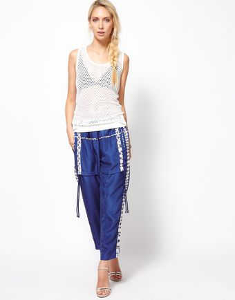 Edun Silk Drawstring Trousers - Lyst