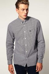 Fred Perry Long Sleeve Gingham Check Shirt - Lyst
