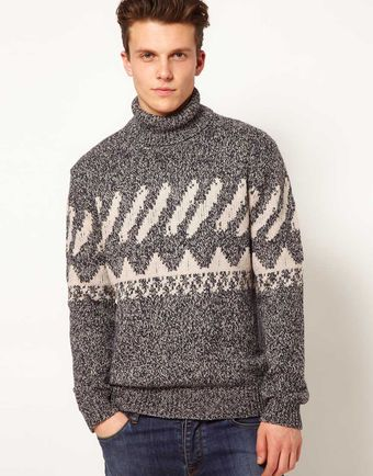 French Connection Jumper Roll Neck - Lyst