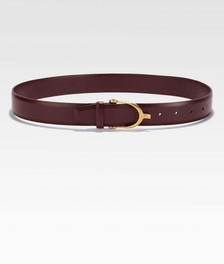 Gucci Calfskin Belt in Red