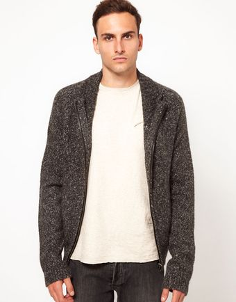 Iro  Zip-Up Knitted Cardigan - Lyst