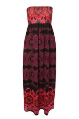 Jane Norman Boarder Print Maxi Dress - Lyst